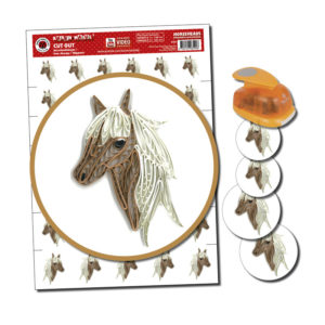 3 ark Cut out Horseheads