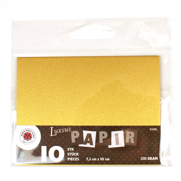 Small card luxus gold 7,5 x 10 cm