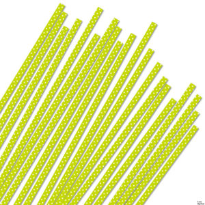 BIG PACK 5 mm lime/white dots