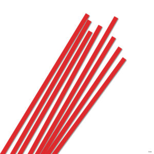 5 mm Strimler Vermilion