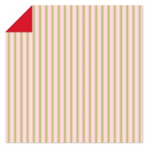 10 stk Origami. Red/Stripes 30,5 x 30,5 cm