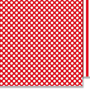 10 stk Org. red stribes & dots 30,5x30,5