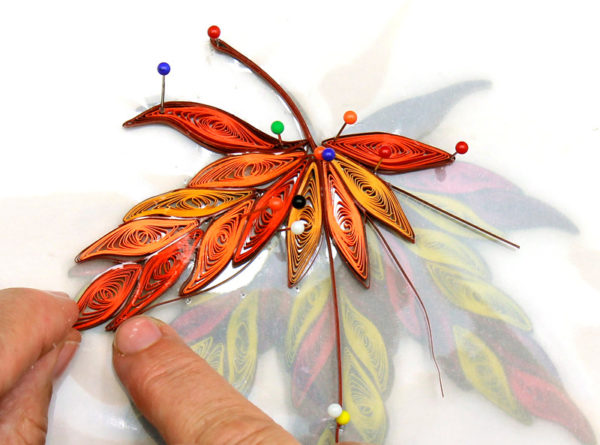 quilling ahorn blad, maple leave