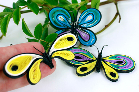 butterfly, Quilling sommerfugle