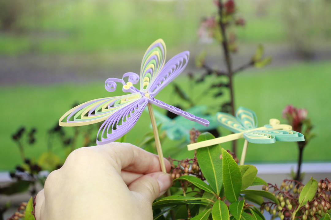 Quilling guldsmed, dragonfly