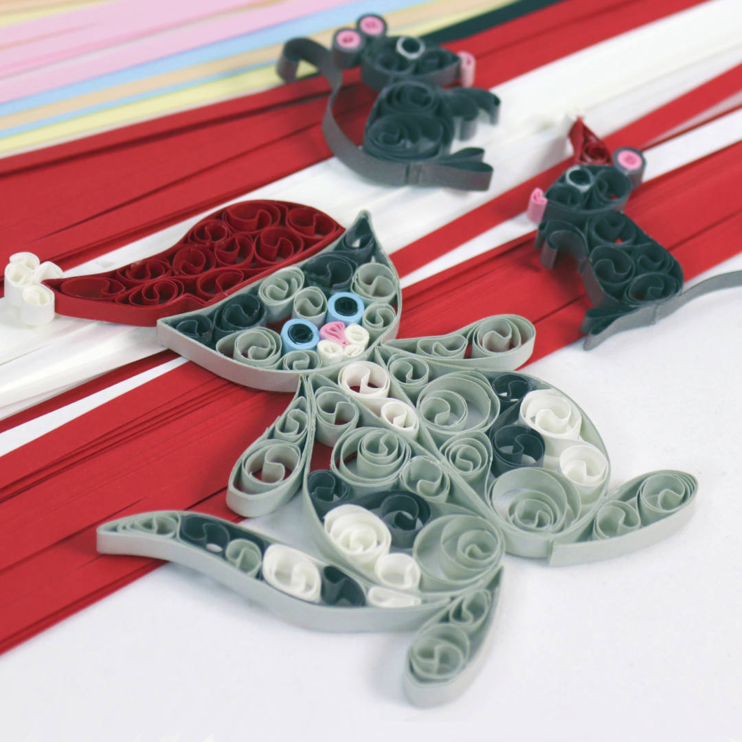 Quilling cat and mouse, kat og mus