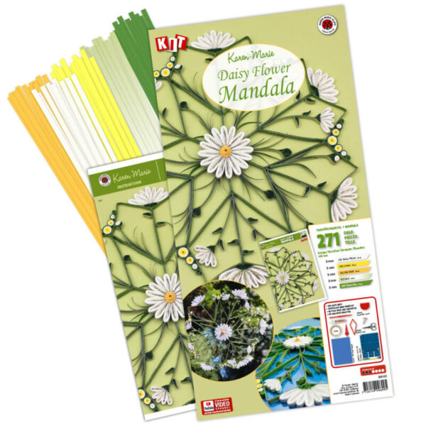quilling daisies, margueritter