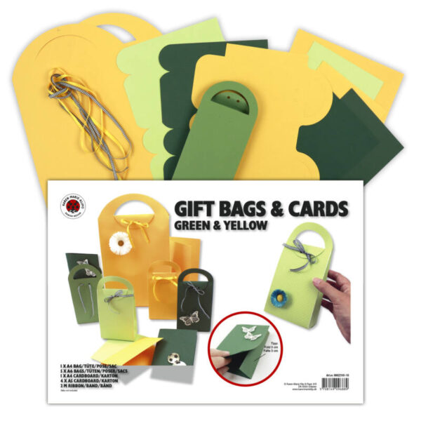 80622161-10 gift bags & cards green