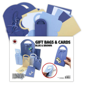 80622376-10 gift bags & cards blue