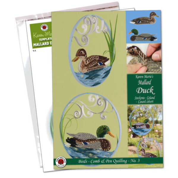 Mallard duck quilling kit, quilling and