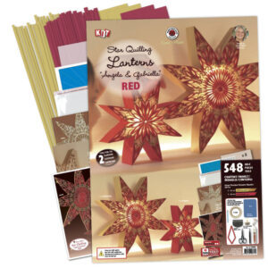 282290 red/gold angela gabriella star lanterns kit