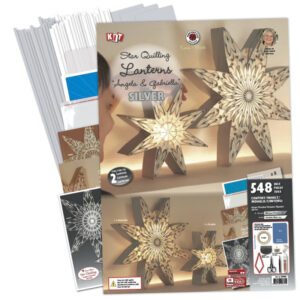 282590 silver/white angela gabriella star lanterns kit