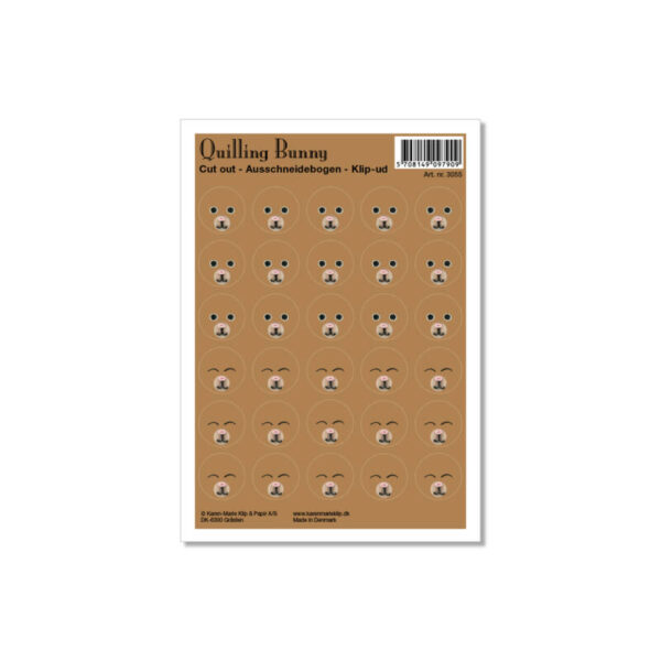 3055 cut-out sheet with bunny faces
