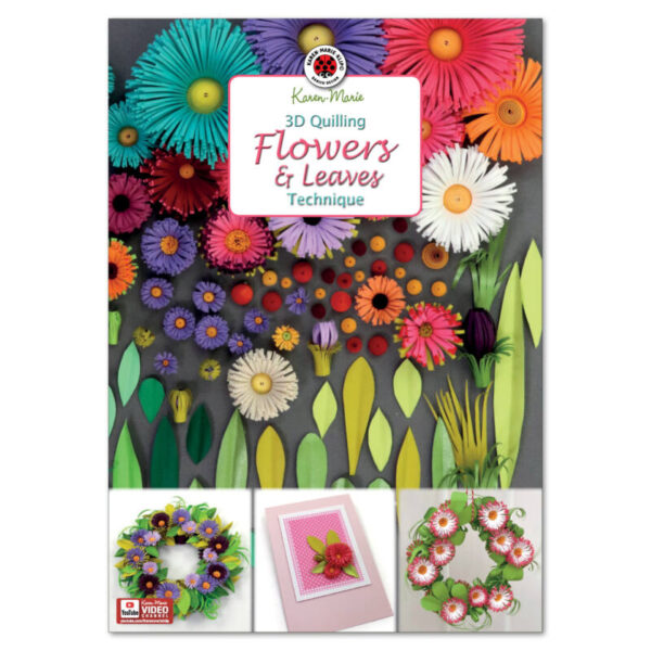 305 3d flowers and leaves instruktion