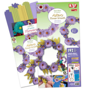 306320 asters flower wreath kit