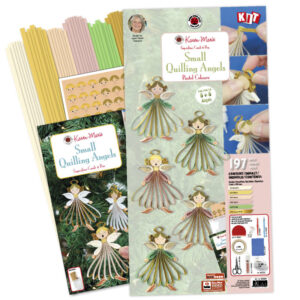Small Quilling Angels kit pastel