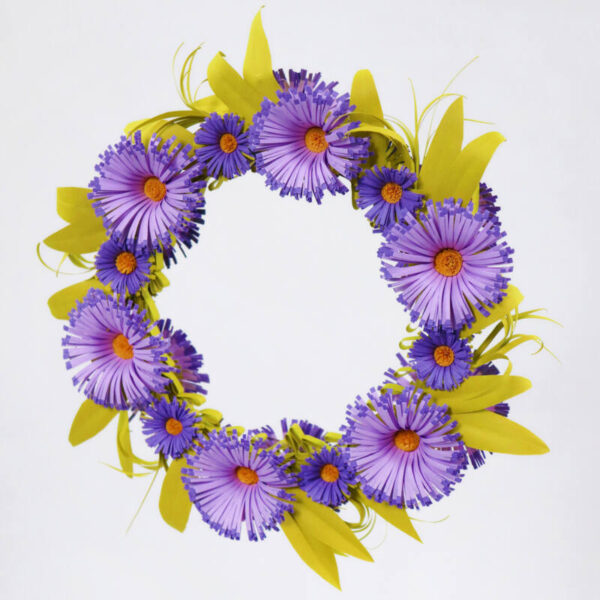 quilling asters flower wreath (306) 01