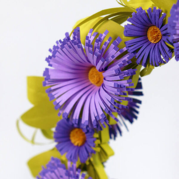quilling asters flower wreath (306) 02