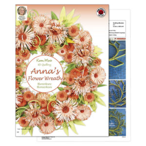 312 anna's flower wreath instruktion