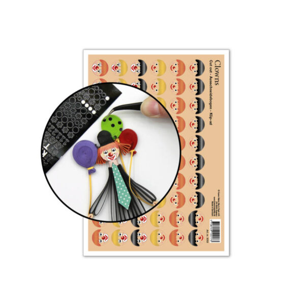 3059 faces for clowns cut-out sheet