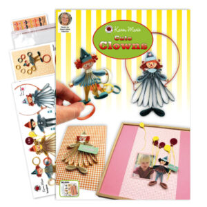321 cute quilling clowns instruction