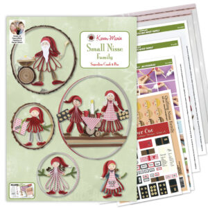 330 small quilling nisse family instruction