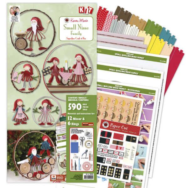 330508 small quilling nisse family kit