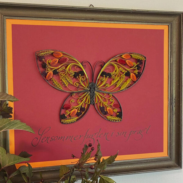 late summer quilling butterfly template (0285-1) 01