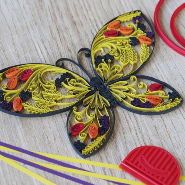 late summer quilling butterfly template (0285-1) 02