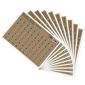 3062-10 faces for reindeer cut out sheet 10 pcs