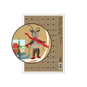 3062 small quilling reindeer cut-out sheet
