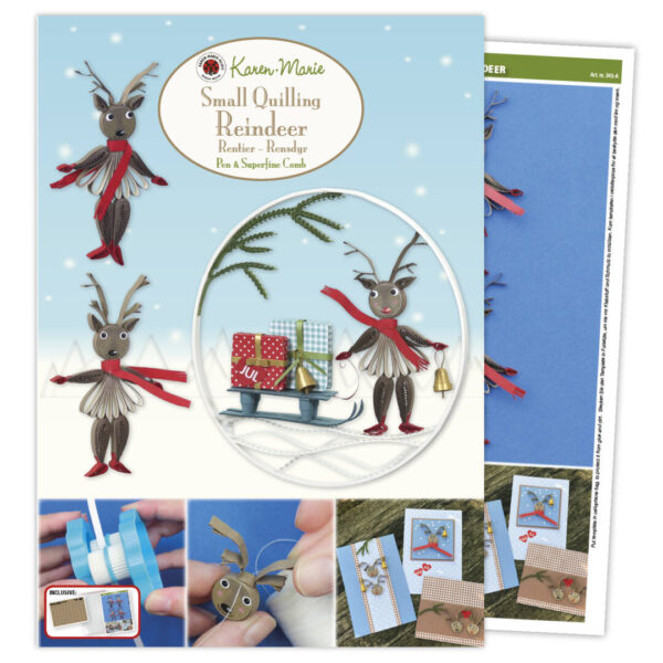 345 small quilling reindeer instruction