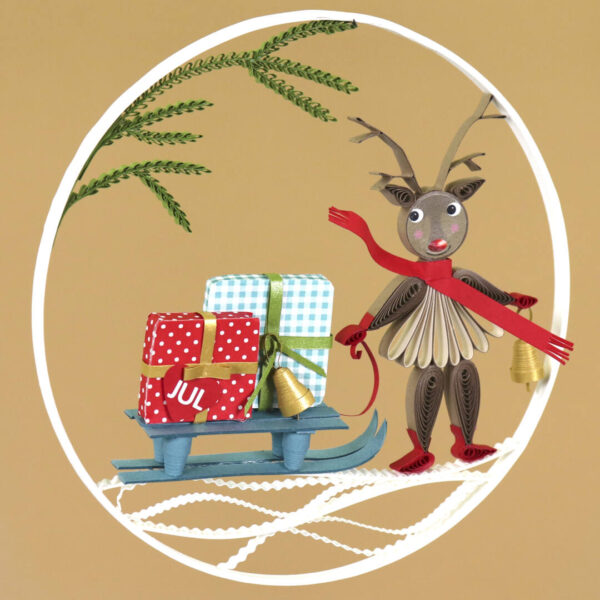 (345) small quilling reindeer 01