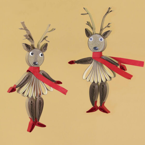 (345) small quilling reindeer 03