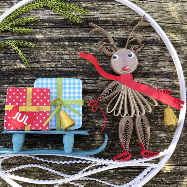 (345) small quilling reindeer 04